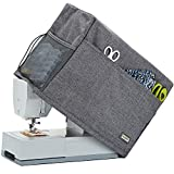 HOMEST Sewing Machine Dust Cover with Storage Pockets, Compatible with Most Standard Singer and Brother Machines, Grey (Patent Pending)