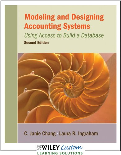 Book cover from Modeling and Designing Accounting Systems: Using Access to Build a Database by C. Janie Chang