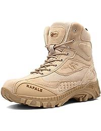 Men's Outdoor High-Top Lacing up Waterproof Military Trekking Hiking Boots