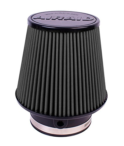 Airaid 702-581 Universal Clamp-On Air Filter: Round Tapered; 3.875 in (98 mm) Flange ID; 6 in (152 mm) Height; 7 in (178 mm) Base; 5 in (127 mm) Top