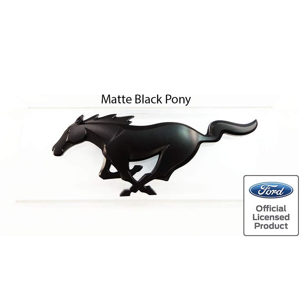 Amazon com 2015 2017 mustang pony front emblem matte black ford officially licensed automotive