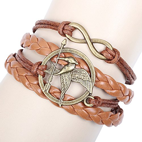 Green Arrow Costumes Replica (Winter's Secret Arrow Bird Multi Strand Brown Lucky Eight Leather Wave Bracelet)