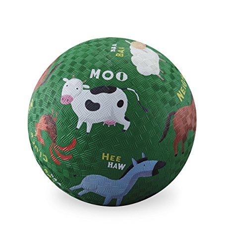 (Crocodile Creek Barnyard Playground Ball, Green, 5