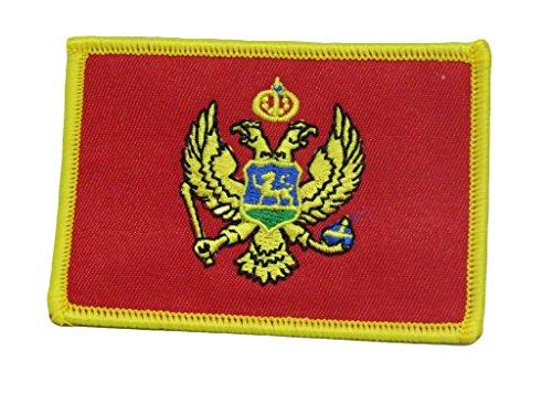 ALBATROS Montenegro Country Flag Iron On Patch ()