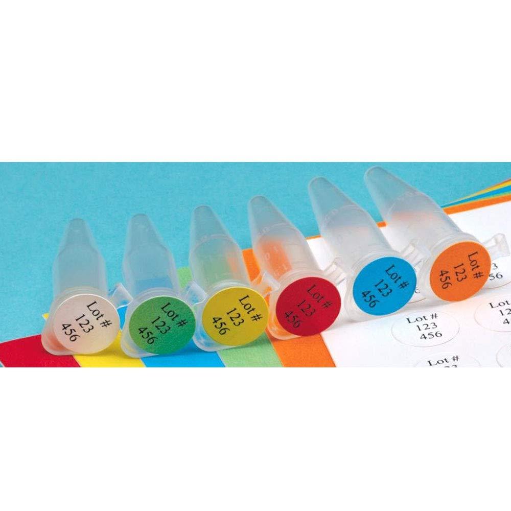 Diversified Biotech Tough-Spots SPOT-1200 Polyvinyl Laser Label, 3/8'' Diameter, Green (Pack of 3840)