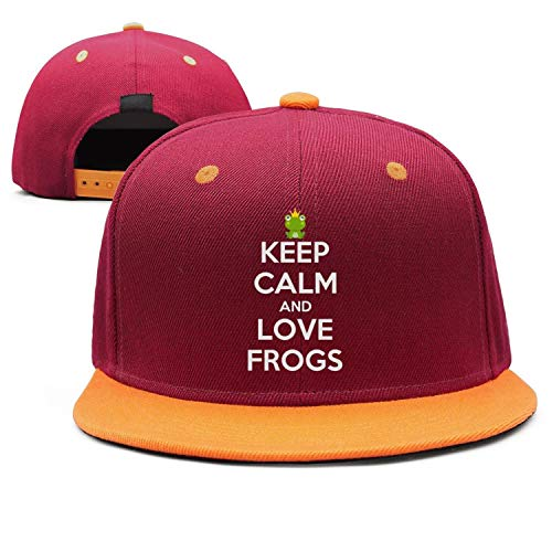 Mans Baseball Caps Trucker Hats Keep Calm and Love Frogs Adjustable Hip Hop Cap