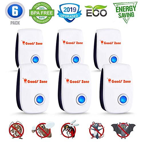 Pest Control Ultrasonic Repellent 2019, Pest Reject Repeller Plug in, Best 6 Pack Indoor Electronic Repellers for Mosquito, Rodent, Mice, Rat, Insect, Cockroach, Ant, Spider, Вed Bugs