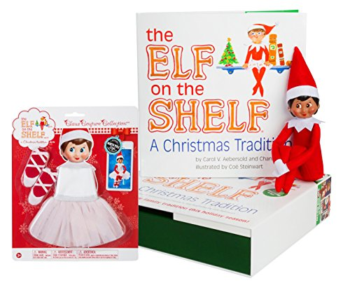 The Elf on the Shelf: A Christmas Tradition - Brown Eyed North Pole Elf Girl with Twinkle Toes Tutu (Dog Elf Outfit)