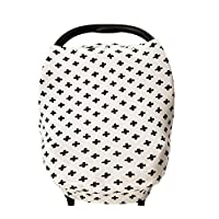 Stretchy Baby Car Seat Cover Canopy with Snaps Multi-use Nursing, Shopping Ca...