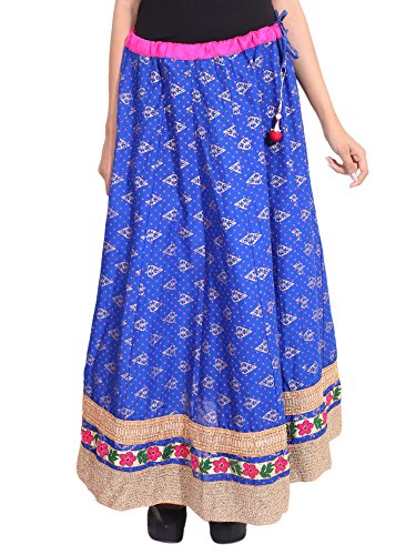 Hot Rangsthali Cotton Gold printed Embroidered Womens long Skirt supplier