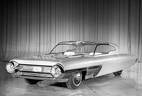 1958 Ford La Galaxie Concept Car - Promotional Photo Poster (Ford 1958 Galaxie)