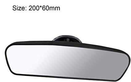 Funnyrunstore Universal Miroir Arri/ère De Voiture Grand Angle R/étroviseur Auto Int/érieur R/étroviseur Avec PVC Sucker CZC-100 Couleur: noir
