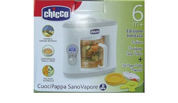 BABY PAPPA Chicco CUOCIPAPPA SANOVAPORE CON SET PAPPACALDA PAPEROTTO: Amazon.es: Hogar