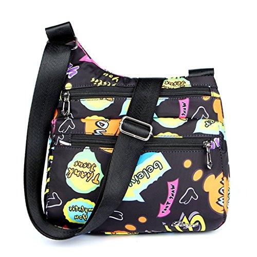 Travel Handbag Nylon Crossbody Purse Bag Tote Women Shoulder New Messenger Bags 7 5 JAGENIE wqCtvEP