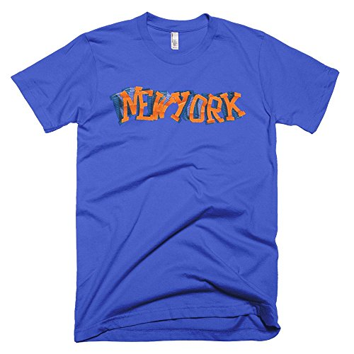 Playera deportiva de New York Twist , Azul Royal, XX-Large