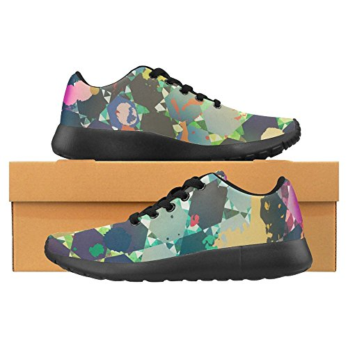 Interestprint Mujeres Jogging Running Sneaker Ligero Go Easy Walking Casual Comfort Deportes Zapatillas De Running Multi 8