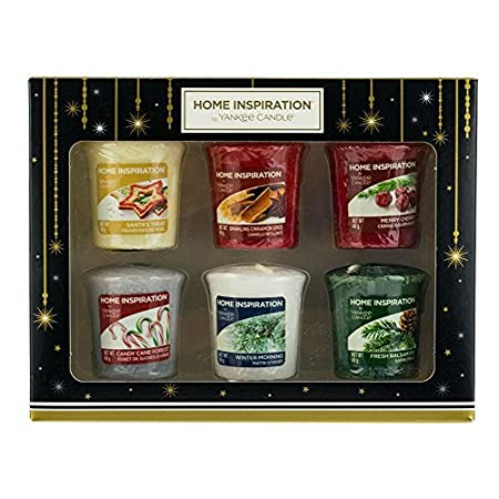 yankee candle home inspiration votive candles christmas scents gift set 6 pack