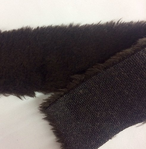 3 Inch FAUX FUR Trim Ribbon in Brown Price Per 5 Yards by Top Trimming