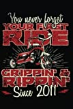 You Never Forget Your First Ride Grippin' & Rippin' Since 2011: Happy Birthday Keepsake Journal Notebook
