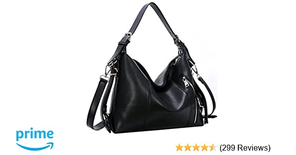 Amazon.com  Heshe Womens Leather Shoulder Handbags Large Capacity Tote  Purse Top Handle Crossbody Bags Satchel for Office Lady (Black-PU leather)   Shoes 8f6df120d56bd
