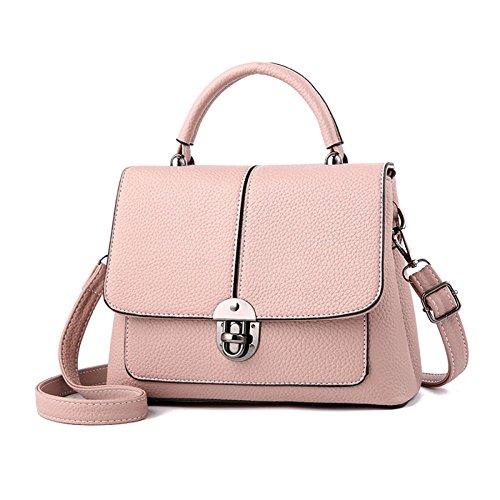 Sac à main pour femme Petit sac à bandoulière Grande capacité Sac shopping rose