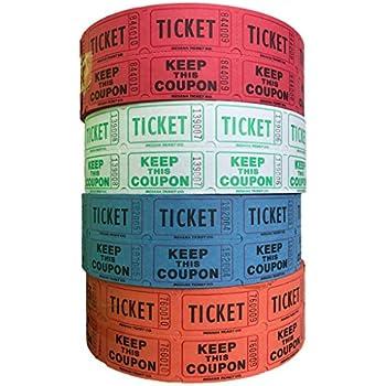 amazon com 56759 raffle tickets 4 rolls of 2000 double tickets