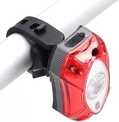 Luz trasera para bicileta Broadroot, 3 W, batería USB recargable ...