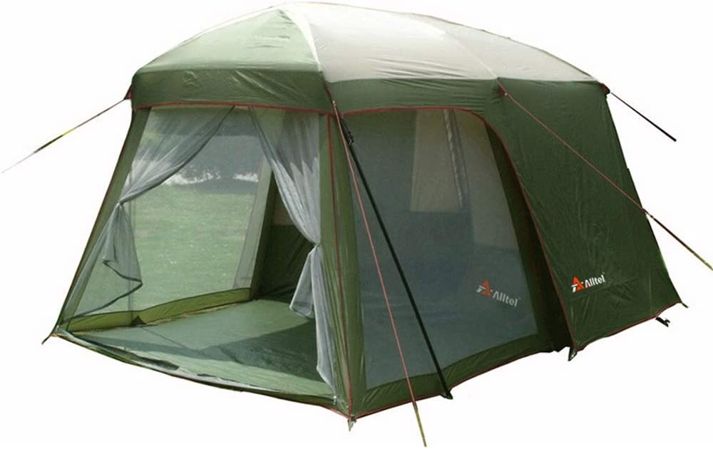 テント キャンプテントダブルライトポータブルキャリングバッグワンルームとワンリビングルーム (Color : 緑, Size : One Size) 緑 One Size
