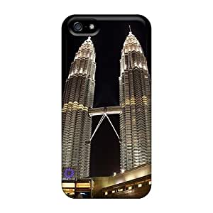 Premium NRKyHCE7614bfWgo Case With Scratch-resistant/ Petronas Towers Night View Case Cover For Iphone 5/5s