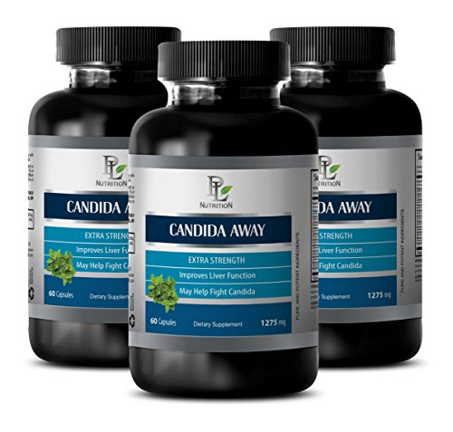 Yeast Fighters - Candida pills - CANDIDA AWAY Extra Strength - Yeast fighters - 3 Bottles 180 Capsules