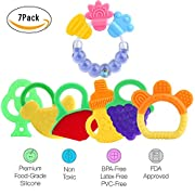 Baby Teething Toys, Gel Teether Keys,Silicone Baby teether for 3-12 Months Infant, Phthalates and BPA Free-7 Pack(Teether)