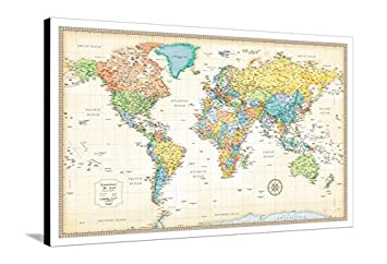 Amazon canvas print wall art rand mcnally classic world map canvas print wall art rand mcnally classic world map gumiabroncs Image collections
