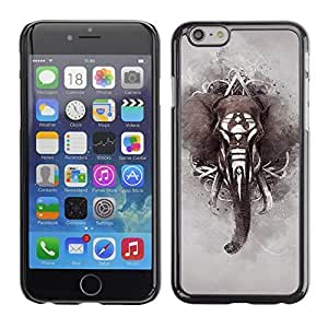 TaiTech / Hard Protective Case Cover - Pattern Indian Africa Grey - Apple iPhone 6 by ruishername