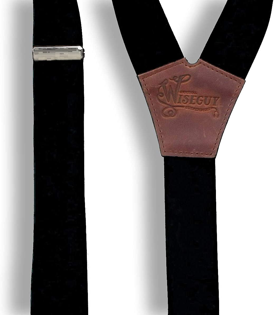 bretelles de qualit/é sup/érieure faites /à la main Wiseguy Bretelles de pantalon en cuir marron et noir naturel pour homme et femme 2,5 cm de large