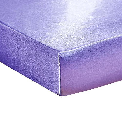 - DuShow Fitted Sheet Purple Queen-Deep Pocket Satin Silk Solid Fitted Sheet-Breathable Soft and Comfortable-Wrinkle Fade Stain and Abrasion Resistant