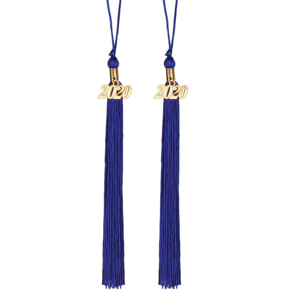 2pcs Black Agltp Single /& Multiple Color Graduation Tassel with 2020 Year Charm 9