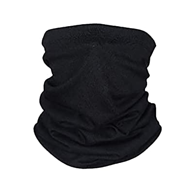 Magic Face Cover Scarf,KMG Outdoor Sports Men Women's Turban Scarf Solid Bicycle Neck Tube Bandana Face Dust Cover(Black,Free): Toys & Games