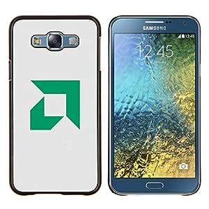 Qstar Arte & diseño plástico duro Fundas Cover Cubre Hard Case Cover para Samsung Galaxy E7 E700 (AMD)