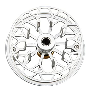 AnglerDream Archer Fly Fishing Reel Fly Reel Spare Spool with Large Arbor CNC Machined Aluminum Alloy Body Smooth Fly Reel 3 4 5 6 7 8WT Black, Gold, Silver