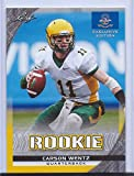 CARSON WENTZ 2016 LEAF EXCLUSIVE EDITION GOLD PARALLEL ROOKIE CARD! W/H TOP LOADER!