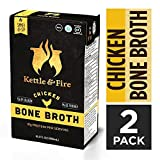 Chicken Bone Broth Soup by Kettle and Fire, Pack of 2, Keto Diet, Paleo Friendly, Whole 30 Approved, Gluten Free, with Collagen, 10g of protein, 16.2 fl oz