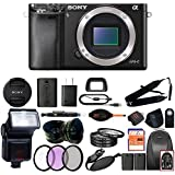 Sony Alpha a6000 Mirrorless Digitial Camera 24.3MP SLR Camera with 3.0-Inch LCD (Black) (Body Only, Advanced Kit)
