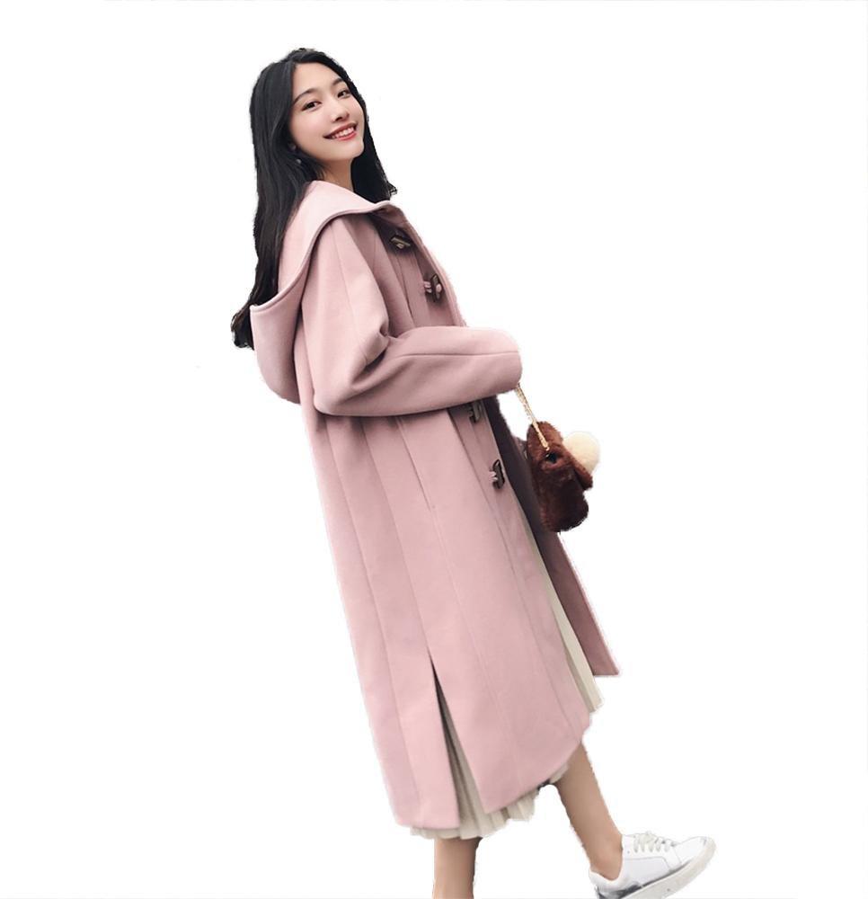 prendas de vestir exteriores largas ocasionales de las señoras del abrigo del duffle del botón del c...