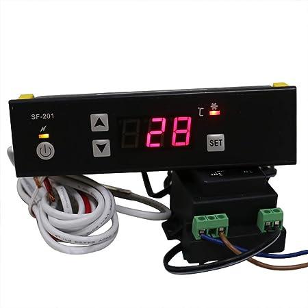 MXBAOHENG PC-201 - Termostato Digital para frigorífico y ...
