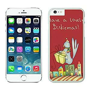 Iphone 6 Case, Christmas Bird Iphone 6 Case - White Frame Series 84833 the Best Durable Protective and Fashionable Perfect Fit Case for Iphone 6 (5.5-Inch)