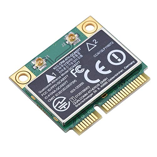 Tosuny PCI Network Card,Dual Band 2.4G/5Ghz Network Card 433Mbps WiFi Mini PCI-E Wireless Card, Compatible for Windows 7/10.and Compatible with Desktop,Laptop, Industrial Control Board, ()