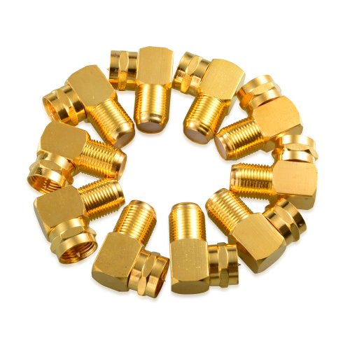 Cable Matters 10-Pack Gold Plated Right Angle F-Type Coaxial RG6 -