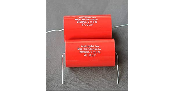 Stayhome Audio Axial Polypropylene Audiophiler MKP 47uF 250V Capacitor for Audio Tube Amplifier Speaker Circuit Crossover