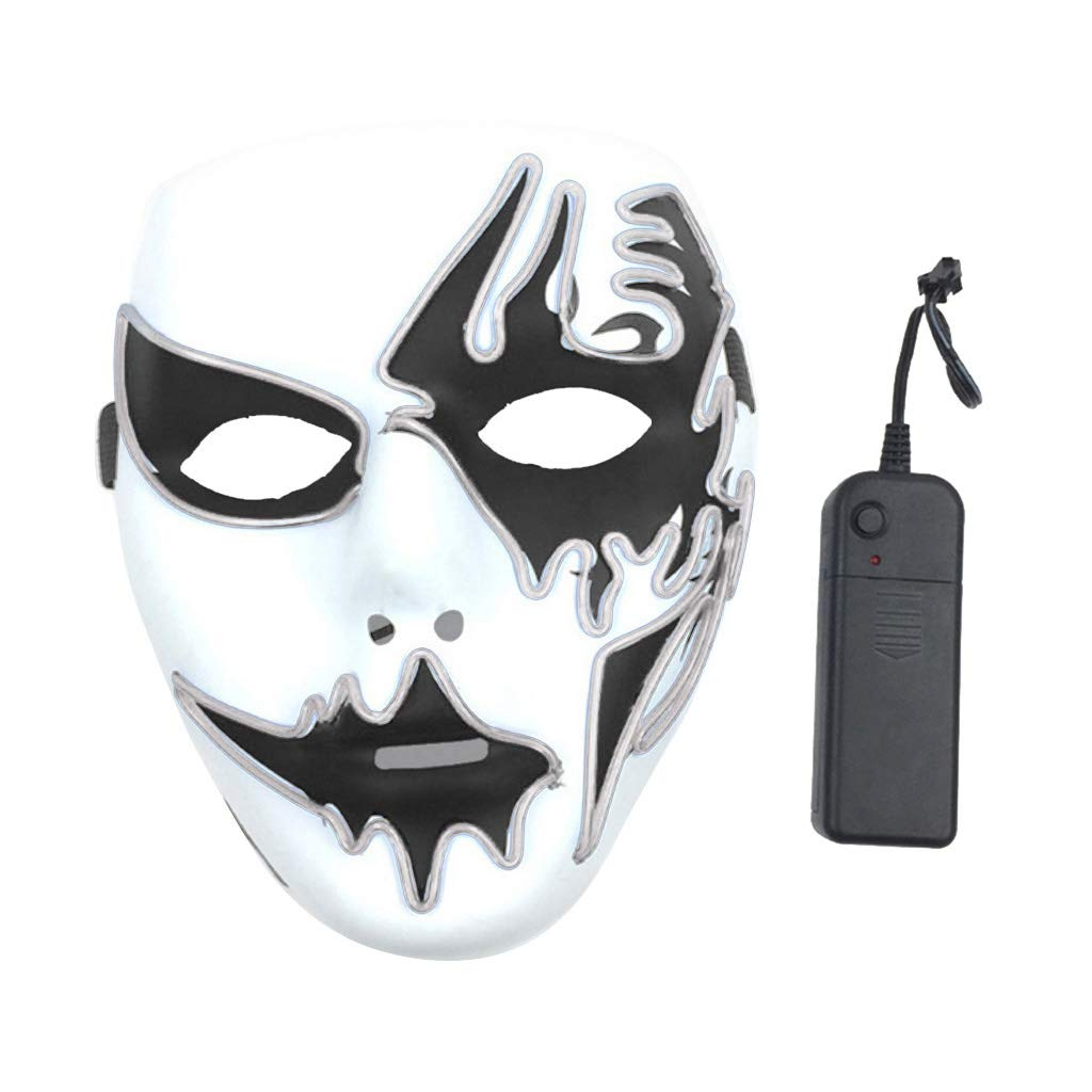 Máscara LED de Halloween con alambre de purga de pánico para ...