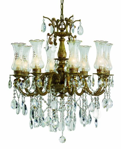 - Trans Globe Lighting Etched Glass Victorian 8-Light Chandelier